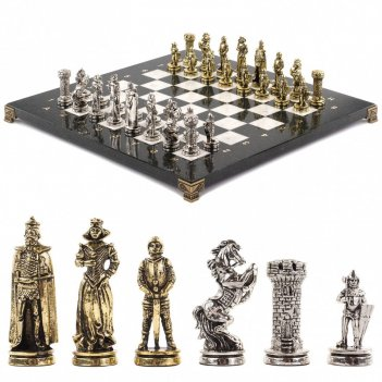 Шахматы рыцари 36х36 см мрамор