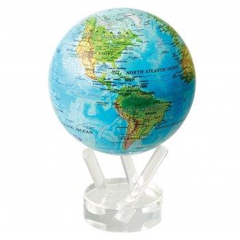 Глобус мобиле d12 см с общегеографической  картой мира