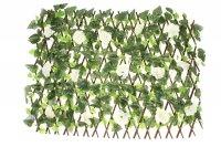 Декоративное ограждение белая роза 220x45 см