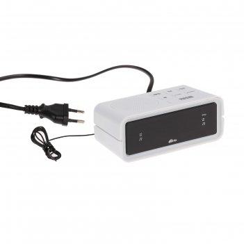 Часы радиобудильник ritmix rrc-606, fm, два будильника, белые