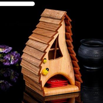 Чайный домик танцевальный, 14*14*24см; материал: дуб, сосна; покрытие: акв