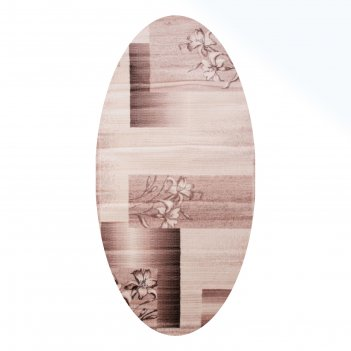 Овальный ковёр omega hitset 7768, 1.5 х 5 м, цвет bone-beige