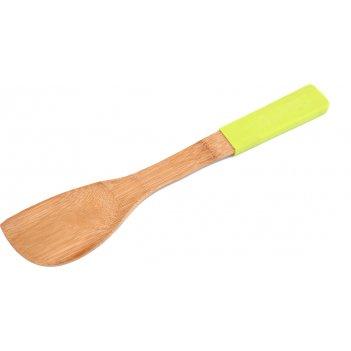 Лопатка кухонная agness с силиконовой вставкой 30*6 см бамбук (кор=40шт.)
