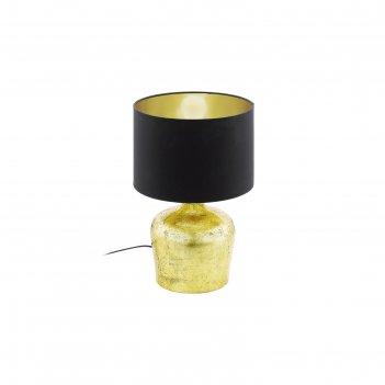Настольная лампа manalba 60вт e27 золото