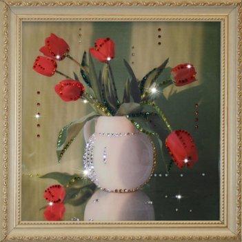 Картина сваровски - тюльпаны