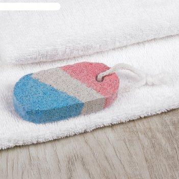 Пемза для педикюра, 9 x 4 см, цвет белый/синий/красный