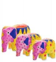 99-374 статуэтка слон (албезия, о.бали) набор из трех