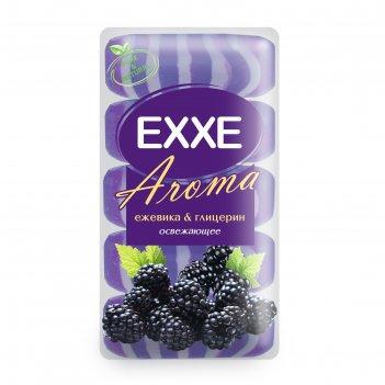Крем+мыло exxe aroma глицериновое ежевика   глицерин, фиолетовое полосатое