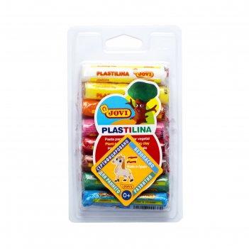 Пластилин 8 цв, 120г, jovi растительный, блистер 28