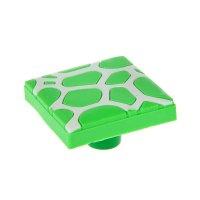 Ручка кнопка детская kid 018, пятна, резиновая, зеленая