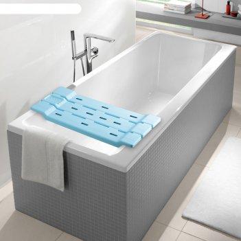 Полка-сиденье для ванной, голубая