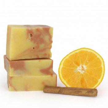 Мыло ручной работы спивакъ апельсин и корица, 100 г