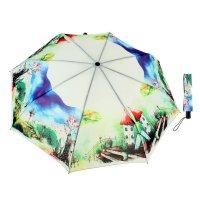 Зонт женский домик акварель, суперавтомат, 3 сложения