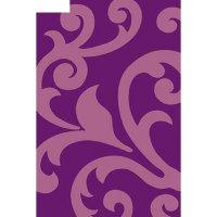 Ковёр карвинг фризе vision deluxe v809, 2*5 м, прямоугольный, violet