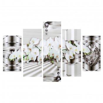 Модульная картина на подрамнике орхидеи в хрустале