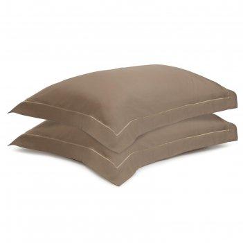 Набор наволочек из египетского хлопка essential, размер 50х70 см, бежевый,