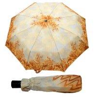 Зонт 23, полный автомат (бежевая абстракция)