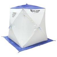Палатка призма 150 (2-сл) люкс алюминий, цвет бело-синий