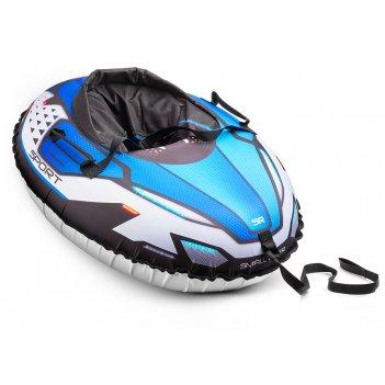 Надувные санки-тюбинг с сиденьем и ремнями small rider asteroid sport (син