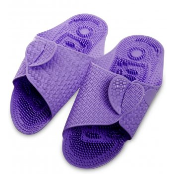 Msg-03/04-l массажные тапочки фиолетовые, длина 27см