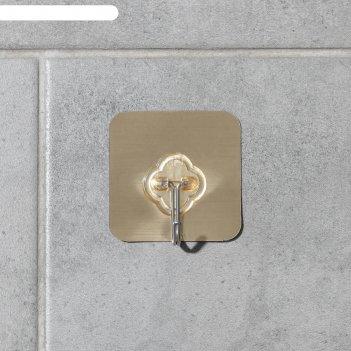 Крючок-наклейка «классик», металл, цвет золотой