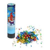 Хлопушка пружинная весёлого нового года! (конфетти+ фольга серпантин) 20см