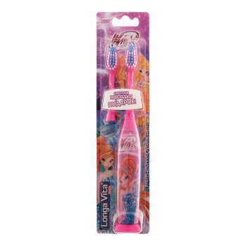 Зубная щётка longa vita kwx-1 winx, вибрационная, с насадкой, от 3-х лет,