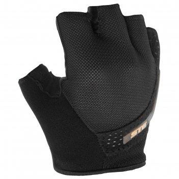 Перчатки велосипедные stg, ai-03-108, размер m, черные/серые