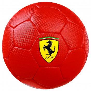 Мяч футбольный ferrari, размер 2, pu, цвет красный