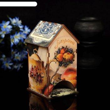 Чайный домик набор с уф-печатью, 8,5х9,5х16см