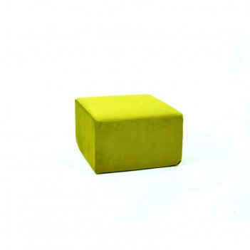 Пуф-модуль «тетрис», размер 50 x 50 см, зелёный, велюр