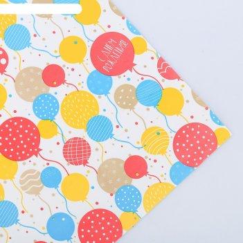 Бумага глянцевая в рулоне «с днём рождения», 0.68 x 8 м