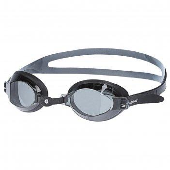 Очки для плавания юниорские stalker, цвет чёрный