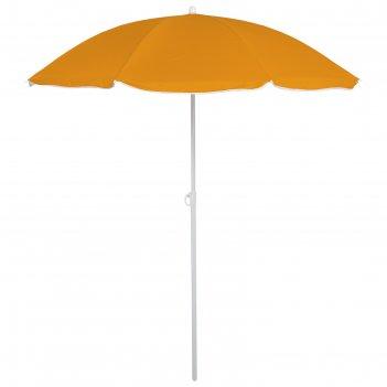 Зонт пляжный классика с механизмом наклона, d=180 cм, h=195 см, микс