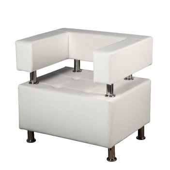 Кресло борк,  белый глянец