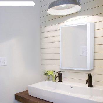 Шкафчик зеркальный hilton, цвет белый