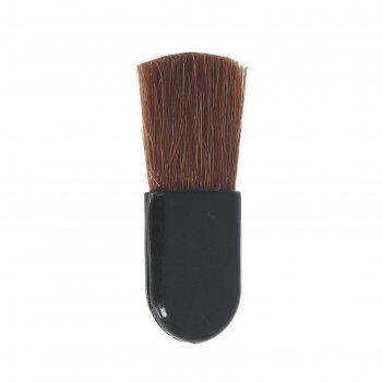 Кисть для макияжа для румян, скругленная, цвет чёрный