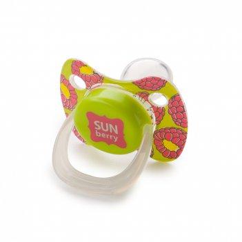 13010 lime силиконовая соска-пустышка симметр.формы с колпачком baby pacif