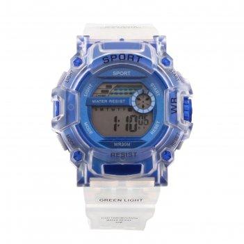Часы наручные электронные, водонепроницаемые, дата, секундомер d=5 см, дли