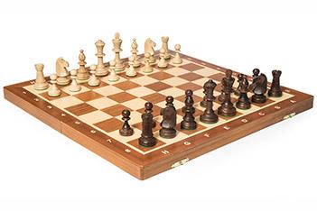 Шахматы складные tournament №5 (турнирные 5) доска махагон 48х48см польша