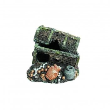 Декорация пластиковая prime «сундук с сокровищами» 7.5x7x6.5 см, pr-bm169-