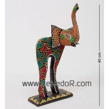 В1-0378 статуэтка слон разноцветный