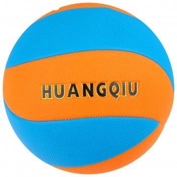 Мяч волейбольный пляжный р.5, 280 гр, цвет оранжево-синий