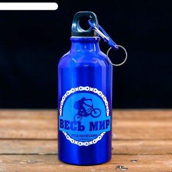 Бутылка для воды весь мир под колесами, 400 мл