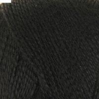 Пряжа шелковый блеск (0140, черный), 400 м