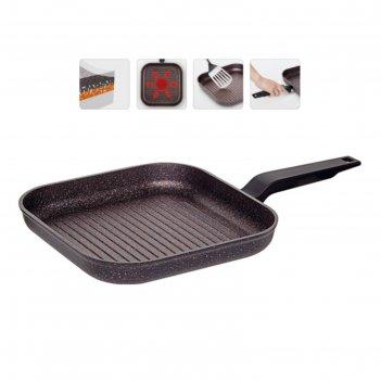 Сковорода-гриль с антипригарным покрытием, 26x26 см, nadoba, серия kosta