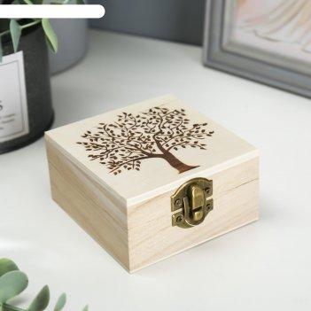 Шкатулка дерево для росписи дерево 10х10х5 см