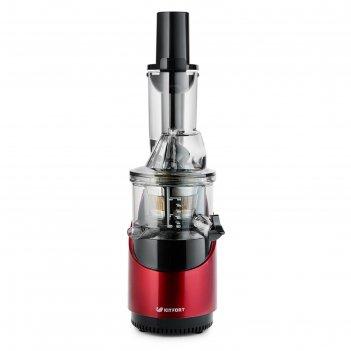 Соковыжималка kitfort кт-1105-1, шнековая, 260 вт, 48 об/мин, красная