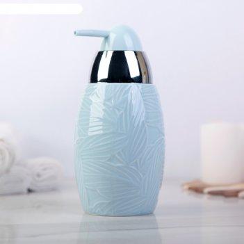 Дозатор для жидкого мыла листья, цвет голубой