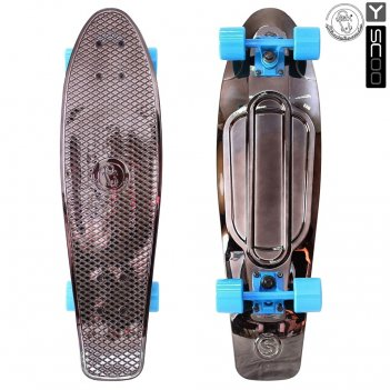402h-bb скейтборд y-scoo big fishskateboard metallic 27″ винил 68,6х